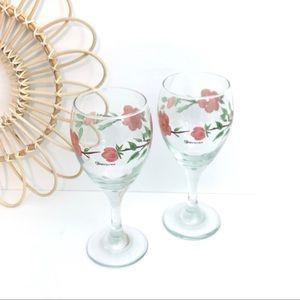 Franciscan   Desert Rose Drinking Goblets